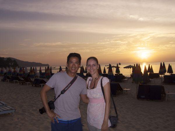 Us at sunset at Surin Beach