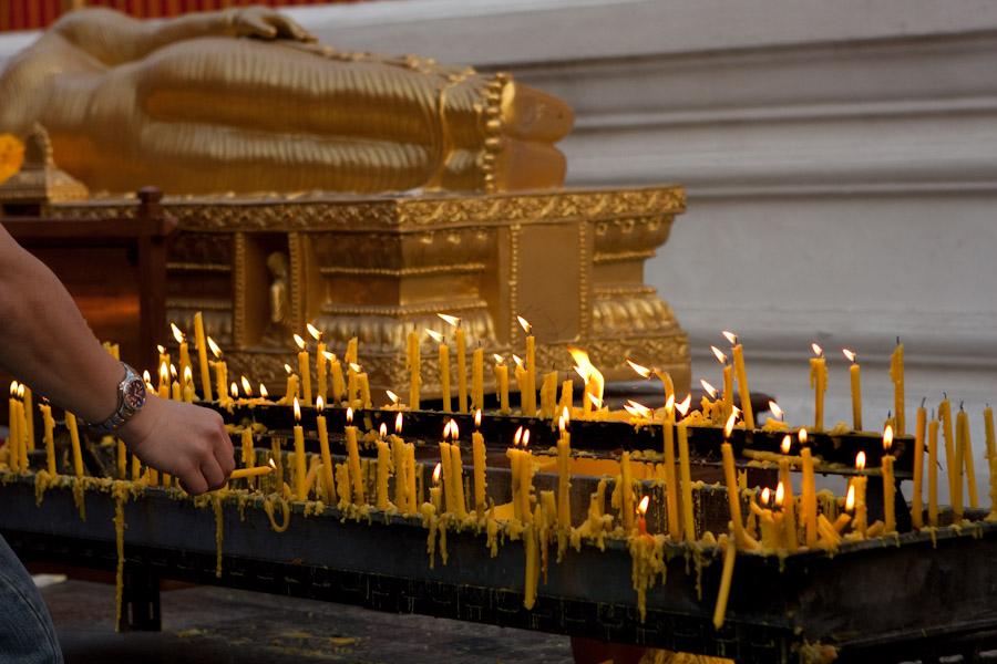 Candles at Wat Phra That Doi Suthep