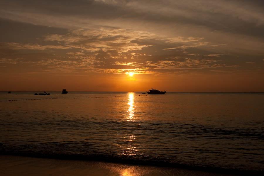 Sunset at Surin Beach