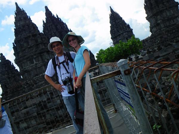 George and Heidi at Prambanan Temple