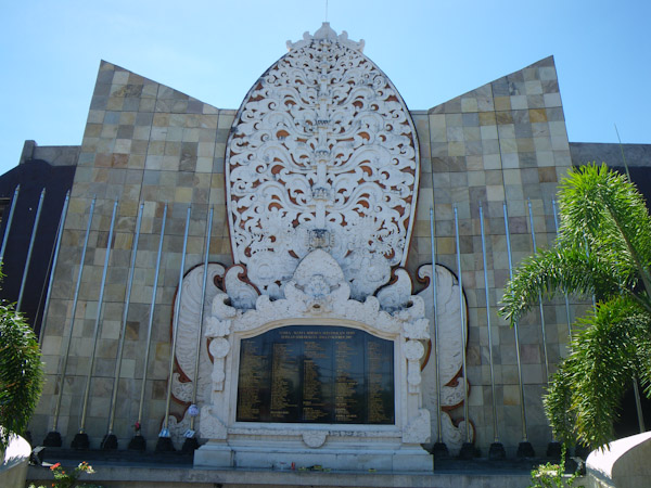 Memorial to the victims of the Bali Bombing
