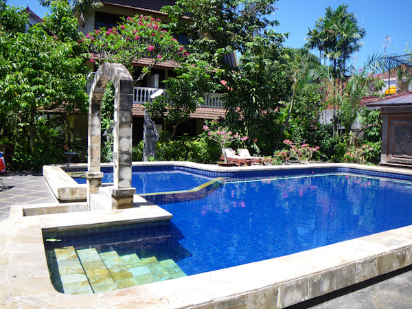 Swimming pool at Mastapa Garden Hotel- quite refreshing!