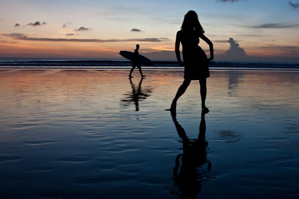 Silhouettes on the Beach, Bali