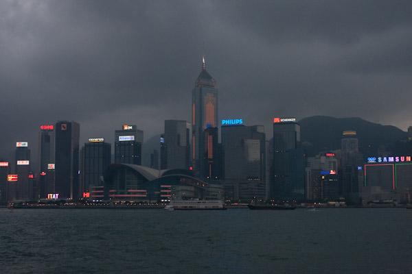 City lights, Hong Kong