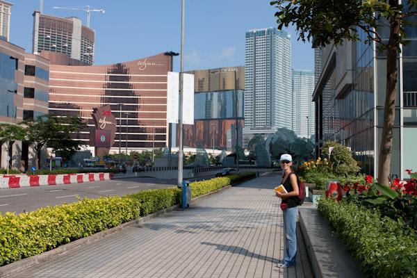 Heidi arriving in Macau