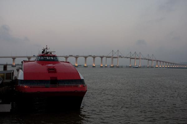 Ferry boat to Macau Island