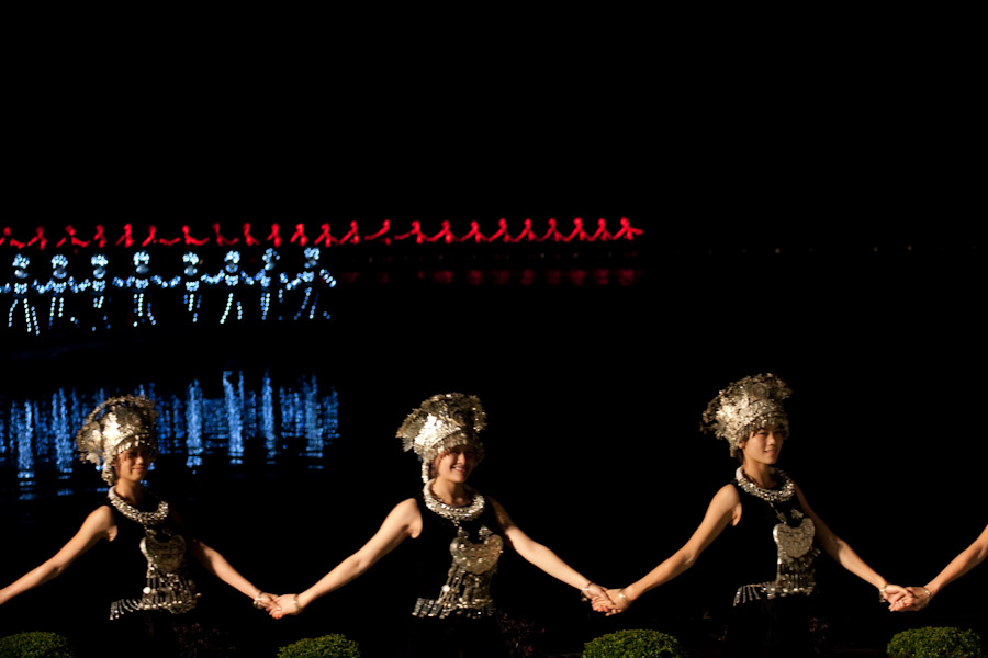 Amazing LED Costumes in Liu Sanjie