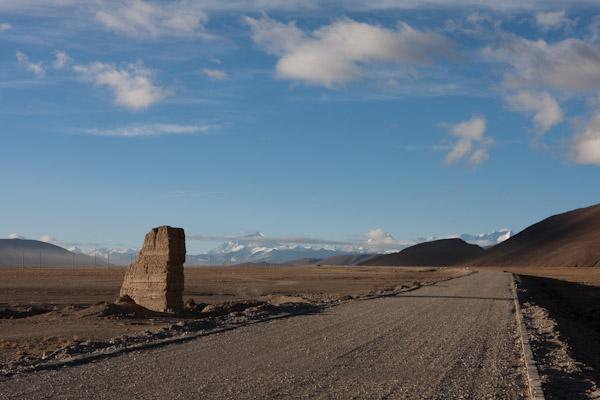 Road through Tibet leading to Nepal