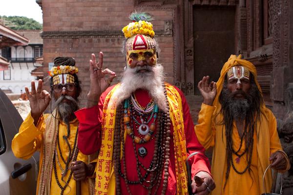 Holy men, Kathmandu, Nepal