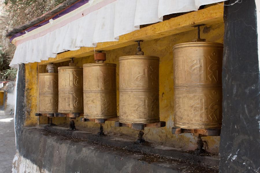 Prayer Wheels at Drepung Monastery, Lhasa, Tibet