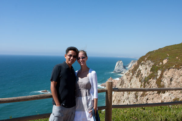 George and Heidi at the western edge of continental Europe