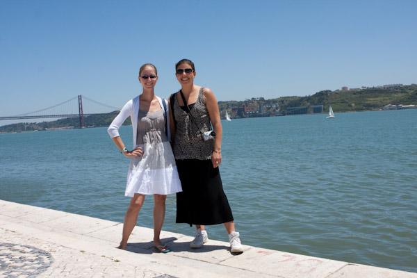 Heidi and Mariana near the River, Lisbon