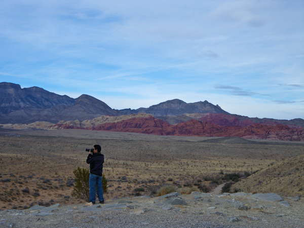 George taking photos at Red Rock Canyon