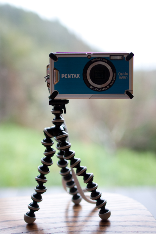Pentax Optio W80 Camera and Joby Gorillapod