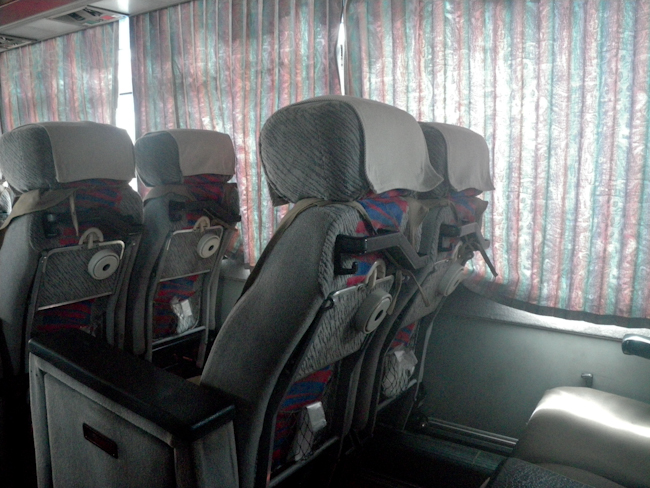 Seats in the Bus from Mandalay to Hsipaw