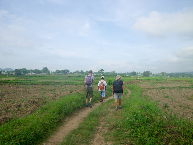 Setting out on our Hike to Hilltribe Villages near Hsipaw