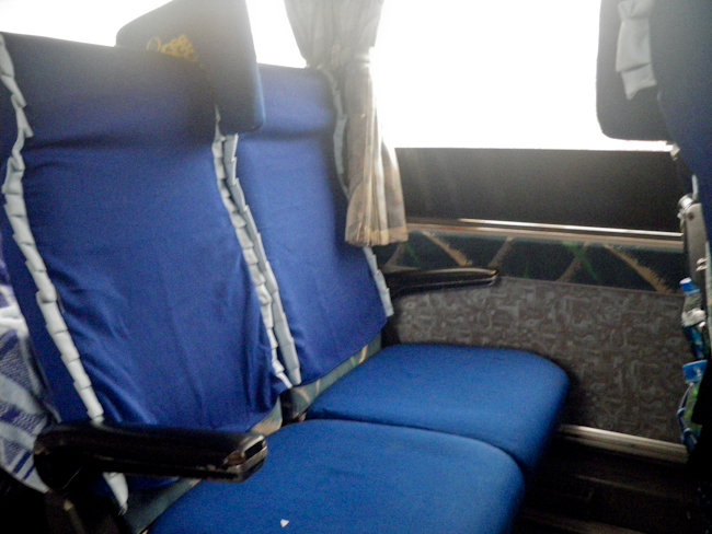 Reclining Seats Inside the Bus