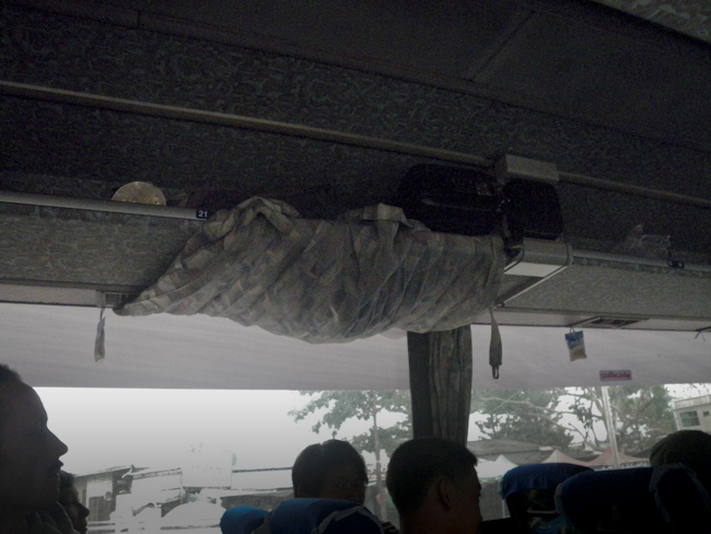 Covering the AC Vents with the Curtains Once the Bus got Cold at Night