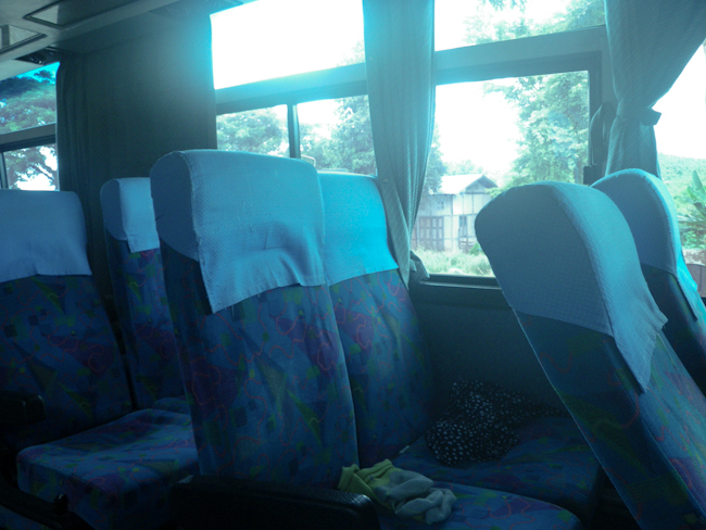Seats Inside the Bus from Inle Lake to Bagan