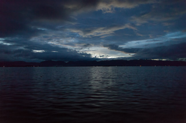 Inle Lake in the Evening as it was Getting Dark