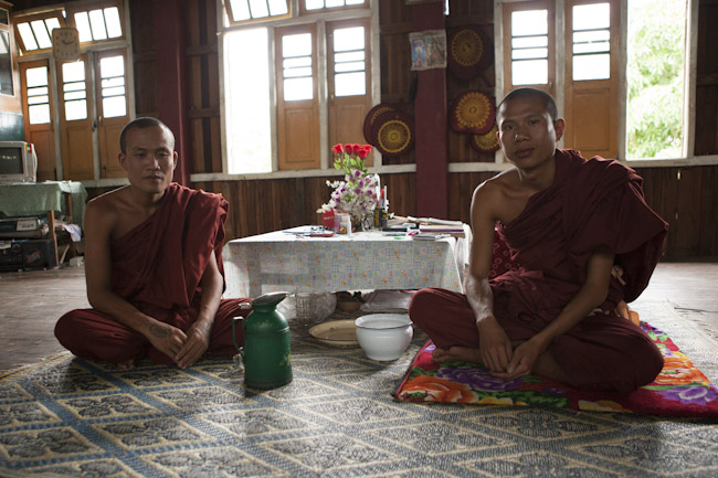 Monks at Kyauk Daing Monastery