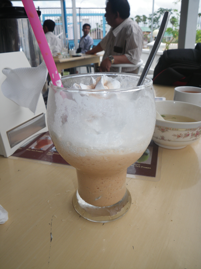 Thai Iced Tea at the Feel Express Rest Stop on the Way to Bago
