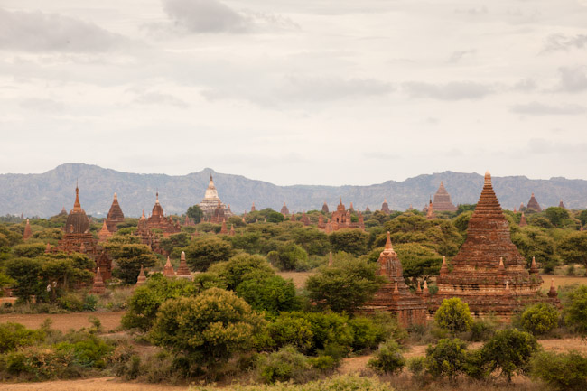 View of Bagan from Bu-Leh-Thi Pagoda