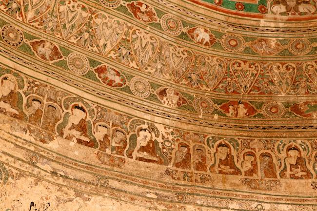 Painting Inside the Shin-Phyu-Shin Monastery Complex, Bagan