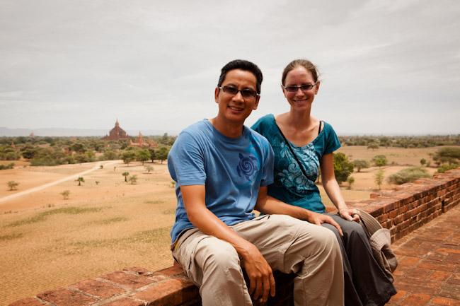 George and Heidi on Pya-tha-da Temple, Bagan