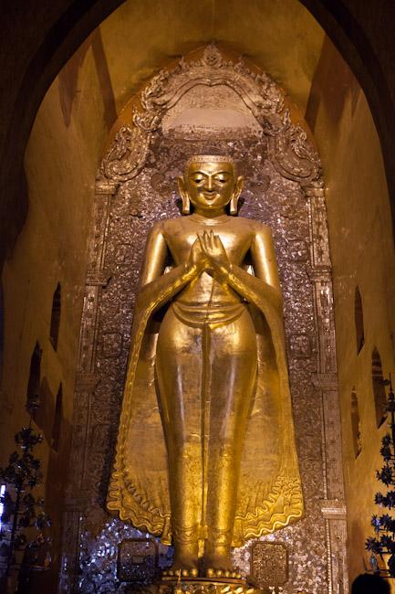 Buddha Image Inside Ananda Temple Smiling