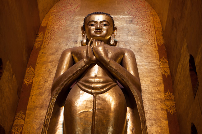Buddha Image Inside Ananda Temple Frowning