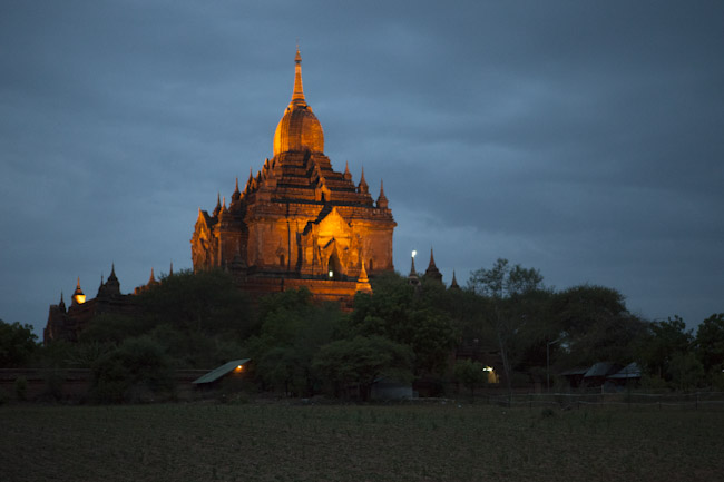 Hti-Lo-Min-Lo Temple at Night, Bagan