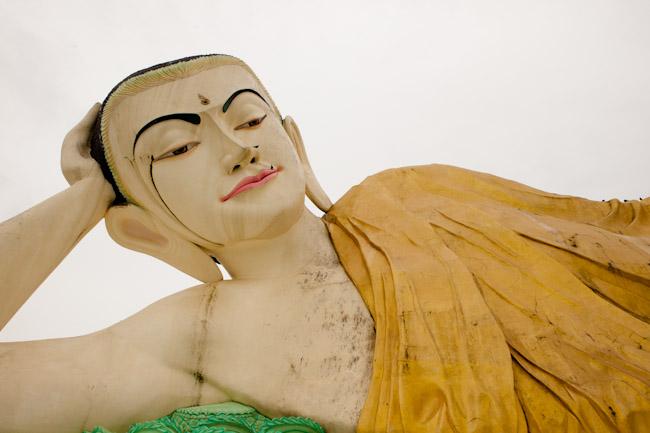 Face of Shwethalyaung Buddha