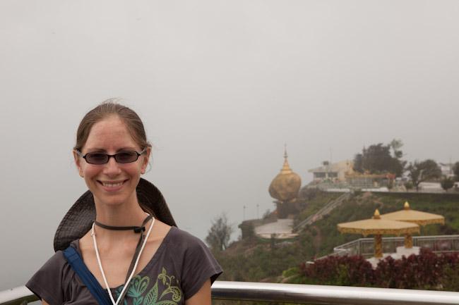 Heidi at Mt. Kyaiktiyo (Golden Rock)