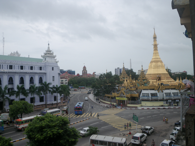 View of the Street Heading Back Toward Sule Paya