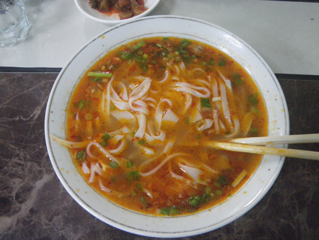 Warm and Spicy Bowl of Shan Noodles