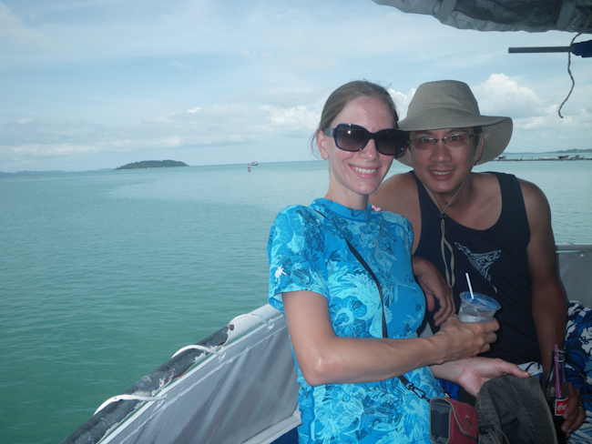 Heidi and George Onboard the Boat