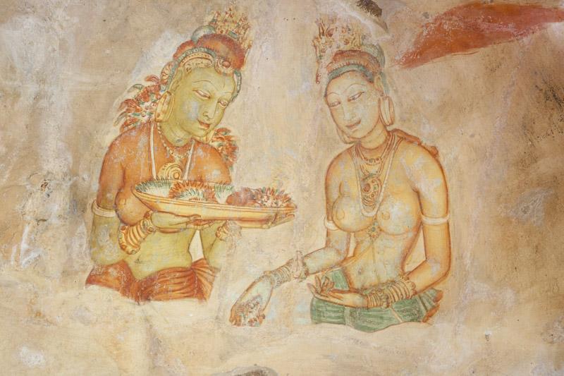 More Ancient Paintings on Sigiriya
