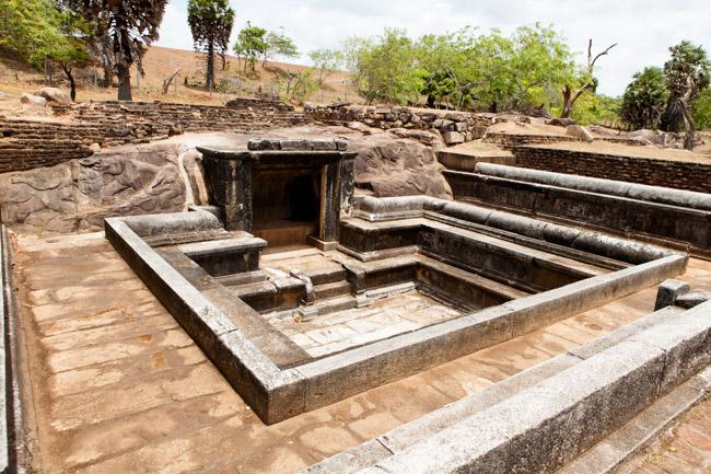 Ancient Baths of 'Ranmasu Uyana' or 'Gold Fish Park'