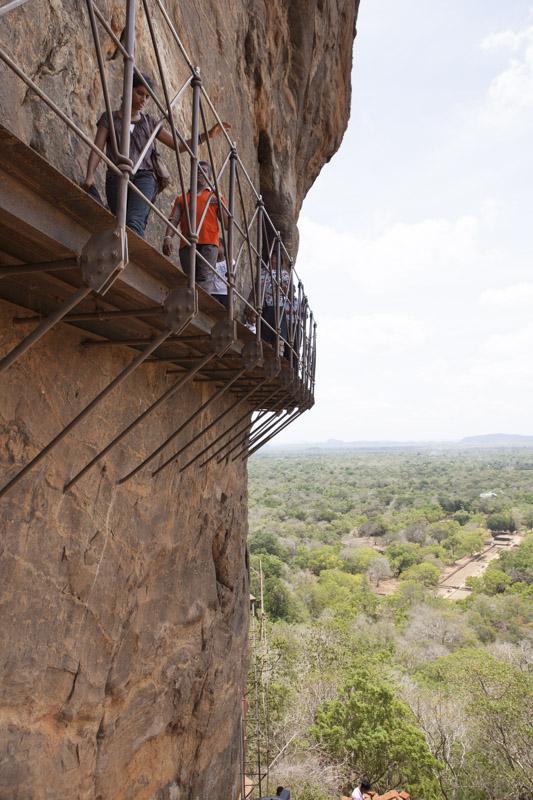 Walkway Hanging on the Edge of Sigiriya Rock