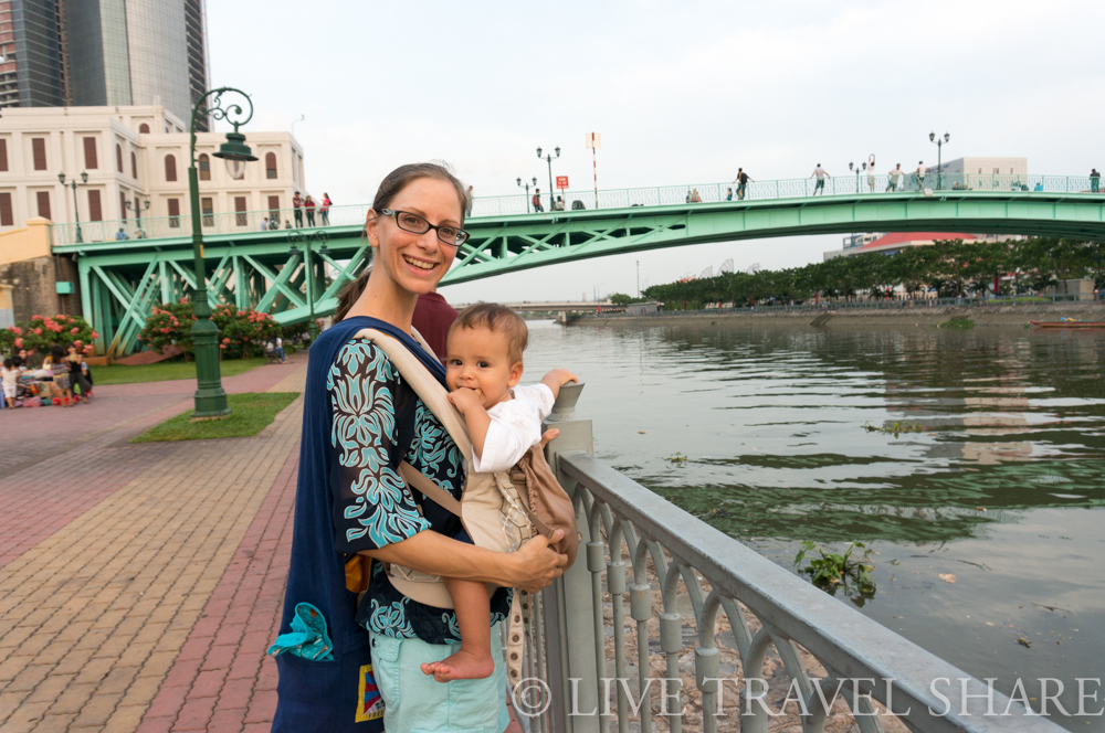 Heidi and Kaisho at the Saigon River